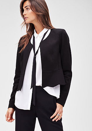 Jersey blazer with a peplum from s.Oliver