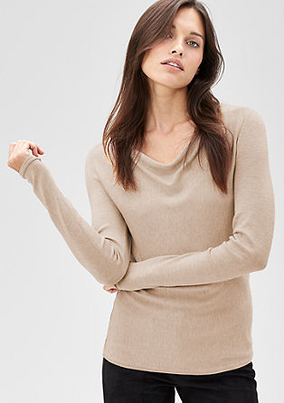 Jumper with a cowl neckline from s.Oliver