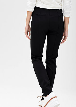 Stretch trousers with darts from s.Oliver