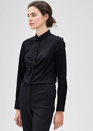 Schmale Stretch-Bluse