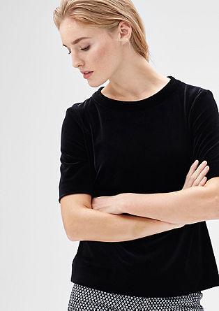 Festliches Velvet-Shirt