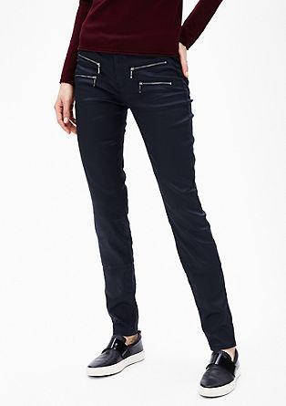 Slim: Jeans mit Zipp-Details