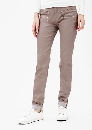 Slim: Stretch-Hose mit Zipp-Details