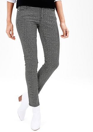 Slim: stretch jeans with a pattern from s.Oliver