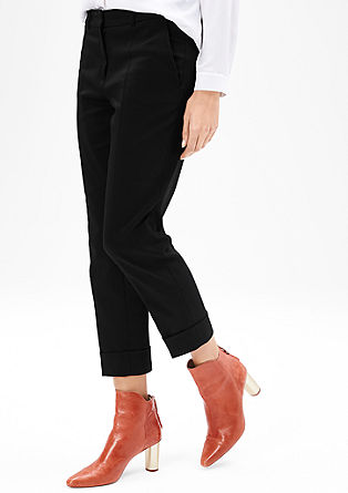 Rachel Straight: Cropped business trousers from s.Oliver