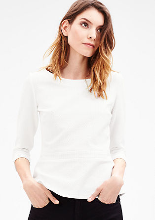 Feminine top with a textured pattern from s.Oliver