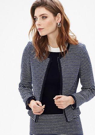 Blazer-Jacke mit Fancy-Muster
