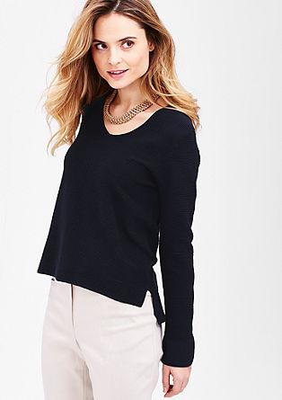 Žebrový pulovr