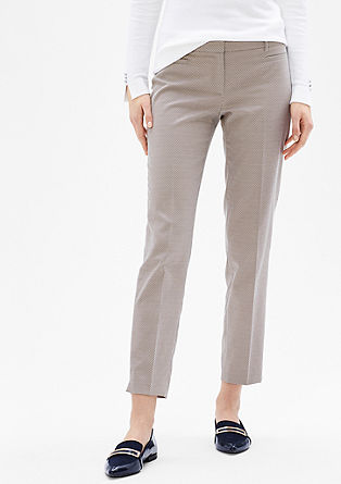 Sue Slim: 7/8 jacquard trousers from s.Oliver