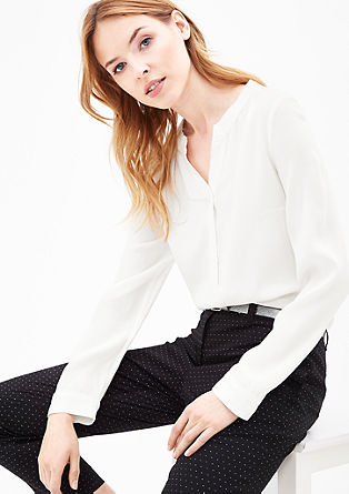 Tunic blouse with a low neckline from s.Oliver