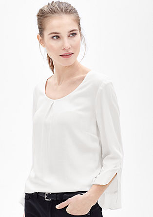 Tunic blouse with flounce details from s.Oliver