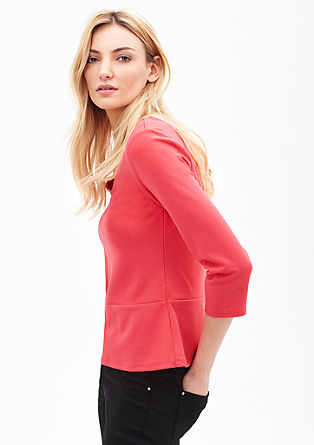 V-neck top with a peplum from s.Oliver
