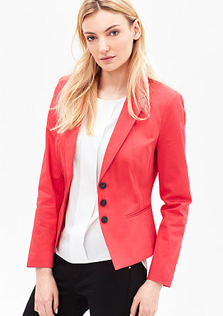 Stretch blazer with a lapel from s.Oliver