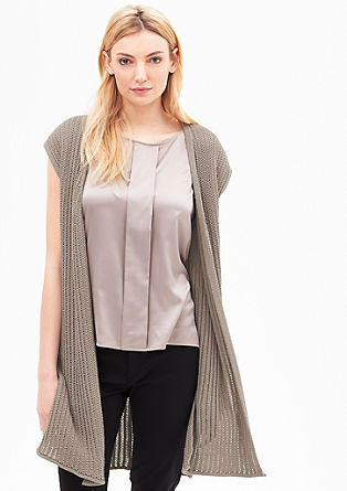 Long chunky knit waistcoat from s.Oliver
