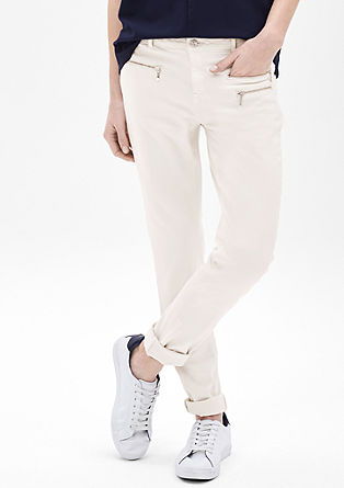 Sienna Slim: trousers with zip details from s.Oliver