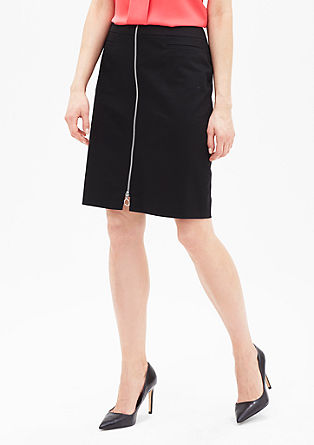Slim fit mini skirt with a zip from s.Oliver