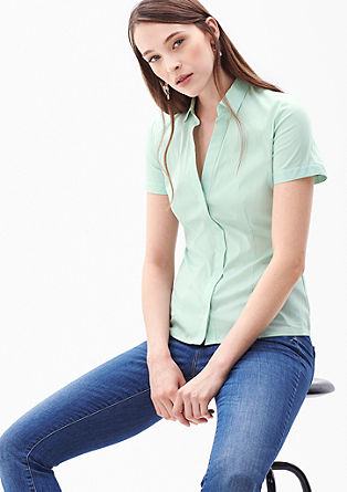 Stretch blouse with a wide neckline from s.Oliver