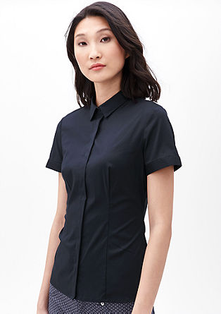Short sleeve stretch blouse from s.Oliver