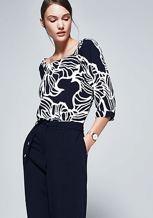 Carmen blouse with 3/4-length sleeves from s.Oliver