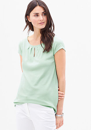 Feminine T-shirt with a piqué texture from s.Oliver