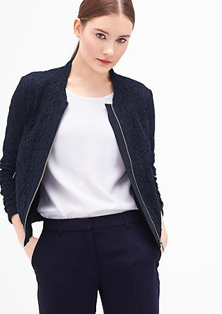 Bomber jacket made of fine lace from s.Oliver