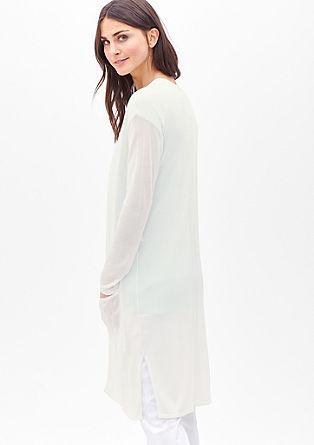 Lang vest van een zijdemix