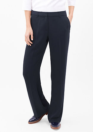 Charlotte Wide: Silky-matte trousers from s.Oliver