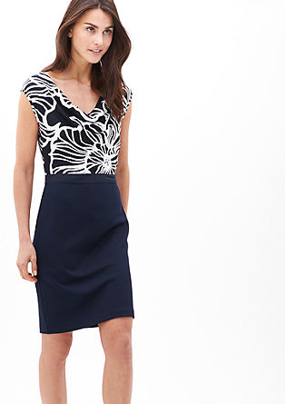 Figure-defining dress in a mix of fabrics from s.Oliver
