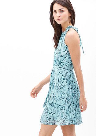 Kurzes Plissée-Kleid aus Chiffon