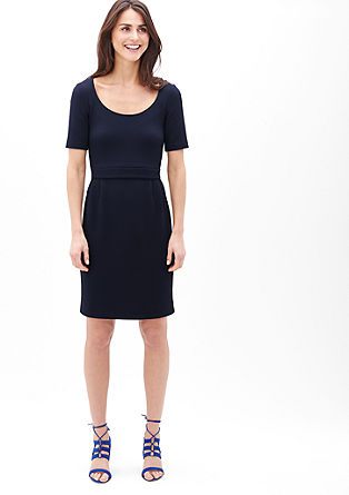 Tone-in-tone textured dress from s.Oliver