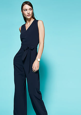 Sleeveless crêpe jumpsuit from s.Oliver