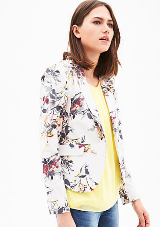 Stretch blazer in cotton satin from s.Oliver