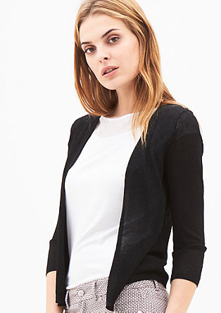 Elegant cardigan with a shiny effect from s.Oliver