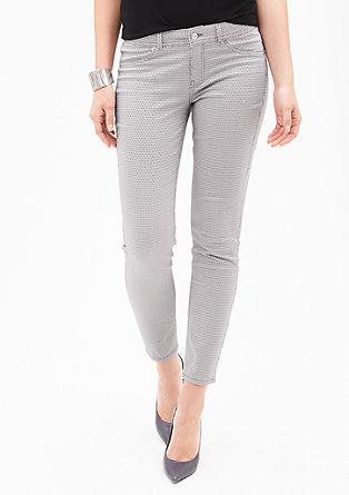Ozke jeans hlače Sienna Slim: hlače iz satena
