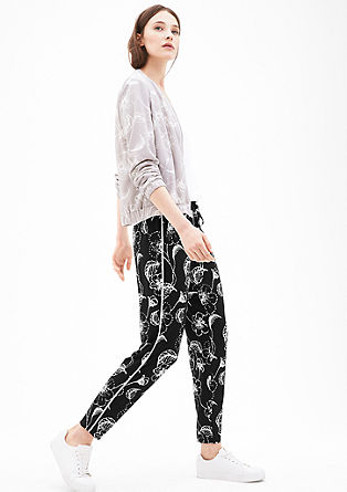 Jersey trousers with an elasticated waistband from s.Oliver