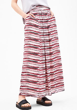 Patterned chiffon maxi skirt from s.Oliver