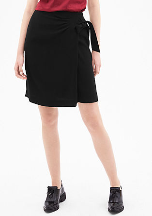 Crêpe skirt with draping from s.Oliver