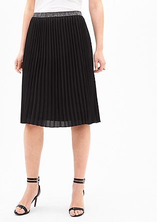 Knee-length pleated skirt from s.Oliver