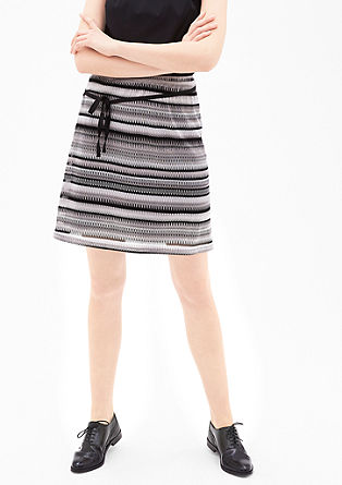 Crocheted skirt with a shine effect from s.Oliver