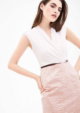 Kleid mit Glanz-Jacquard