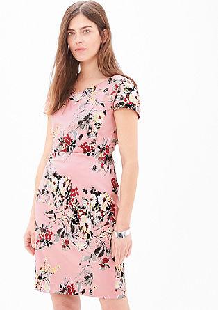 Stretch-Kleid aus Baumwollsatin