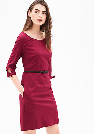 Poplin dress with knot details from s.Oliver