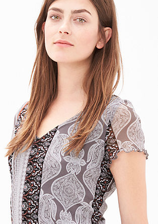 Mesh-Shirt mit Layering