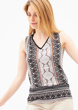 Patterned stretch top from s.Oliver