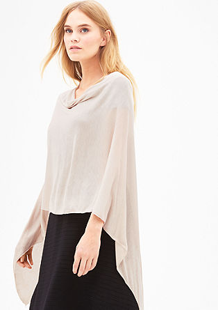 Delicate jersey poncho from s.Oliver