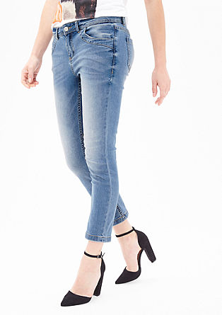 Sienna Slim: Pale 7/8 jeans from s.Oliver