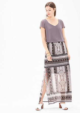 Patterned mesh skirt from s.Oliver