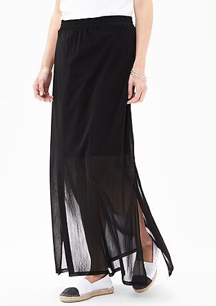 Mesh skirt with a sheer effect from s.Oliver