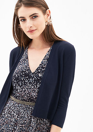Short cardigan in a soft, fine knit from s.Oliver