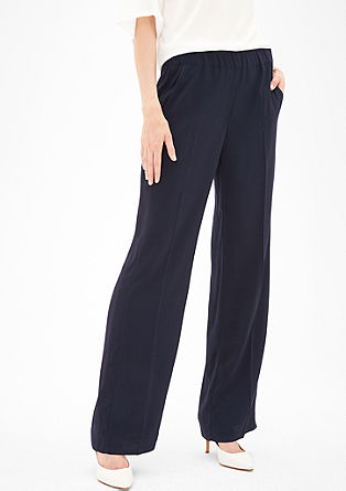 Charlotte Wide: Trousers with an elasticated waistband from s.Oliver